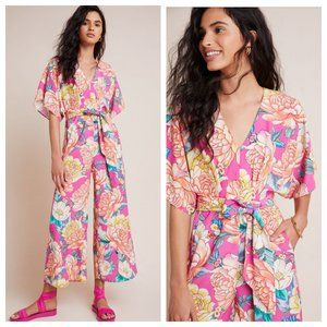 Anthropologie Farm Rio Eulalie Wide-Leg Jumpsuit